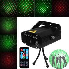 Mini Projector Stage Laser Lights LED R&G Lighting Xmas Party KTV DJ Disco Light