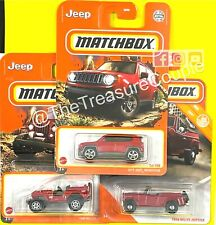 Matchbox 2021 / 2020 - Lot of 3 - JEEP - Renegade & Willys - All Red - E64