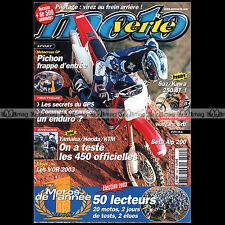 MOTO VERTE N°349 JEAN-MICHEL BAYLE YAMAHA 250 WRF YZ KTM EXC 450 HONDA CRF 2003