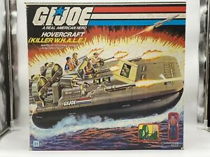 GI JOE Killer Whale HOVERCRAFT 1984 ARAH Cutter Box Vintage Complete Blue Prints