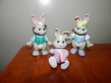 1996 Fisher Price Hideaway Hollow Rabbit Toy Figurine Family Moveable Arms Legs