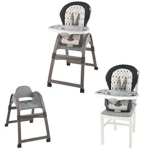 Ingenuity 3-in-1 Wood High Chair Ellison 6 Mths to 50lbs Use For 2 Kids At Once