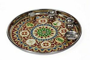 Stainless Steel Pooja Thali Set for pooja/puja in festivals/Free shipping