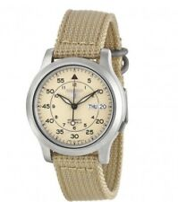 Seiko 5 SNK803 Men's Wrist Watch - Automatic Beige Brand New