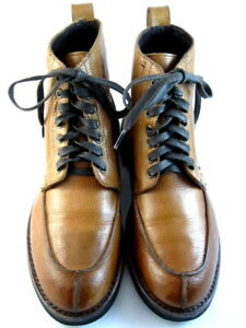 "Allen Edmonds ""Rainier"" Men's Boots Split Toe Blucher 9 D  Cognac USA (606)"