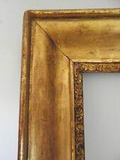 cadre ancien XIXe  doré      Feuill : 56,3 cm  X 44 cm