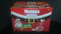 Huggies Little Movers Limited Christmas Edition Santa Diapers Size 4 Pack Of 56