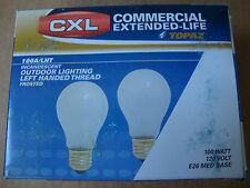 Topaz CXL Commercial Extended Life 100W Bulbs - Left Handed (Not Right Handed)