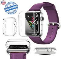 Apple Watch 38mm 42mm Clear Ultra Thin Hard Protective Case Cover *LOT SERIES 3