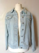 Boohoo Womens Petite Kerry Oversized Denim Boyfriend Jacket Size 14 Uk BNWT Blue