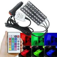 4PCS Car RGB LED Strip Light Interior Decor Atmosphere Light With Remote