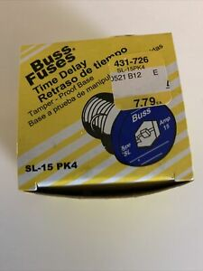 Buss fuses time delay 4 pack - SL 15 AMP Time delay S