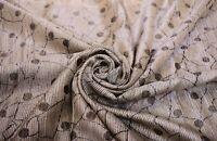 Vintage Beige Bollywood Print Sari Traditional Used Silk Fabric Saree Indian Art