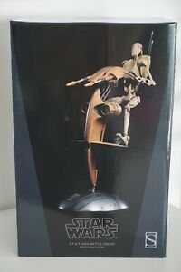 SIDESHOW 1/6 ACTION FIGURE : S.T.A.P AND BATTLE DROID - STAR WARS