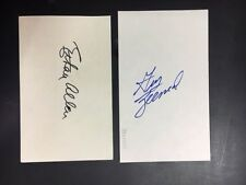 Gus Zernial Vintage Signed Index Card with KevinSavage Cards/Auction COA