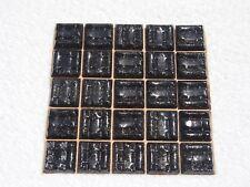 """Black Speckle Vitreous Glass Tiles 25 x pcs  Crafts Approx """"2cm x 2cm"""""""
