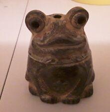 Ceramic Frog Toad Incense Burner Made In Japan