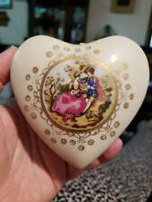 Vintage Limoges Heart Trinket Box