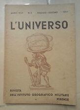 RIVISTA L'UNIVERSO ISTITUTO GEOGRAFICO MILITARE MAGGIO GIUGNO 1950