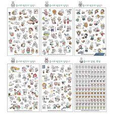 6pc Kawaii Big Glasses Rabbit Color Deco Sticker DIY Diary Scrapbook Decal Craft