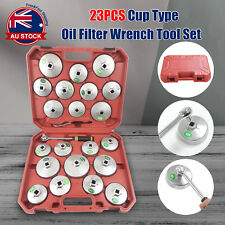 23pcs Aluminium Oil Cup Type Filter Wrench Removal Socket Remover Tool Kit