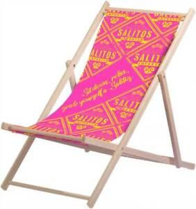 SALITOS Liegestuhl Pink  - verstellbarer Strandstuhl