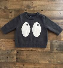 NWT Baby Gap Eyes Sweater Newborn 3 Month