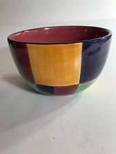 Tabletops Corsica Home Soup Bowl Checkered Pattern Set of 1