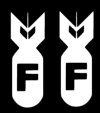 2x F Bomb FCK Sticker Decal Vinyl Illest Fatlace illmotion JDM ill Drift Funny