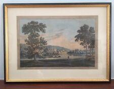 1793 Antique Print; Bisham Abbey from Higginson Park, Marlow after Farington