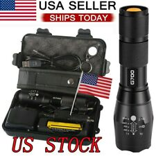 Super-Bright Tactical Flashlight 50000lm CREE LED Military Torch Survival Lamp