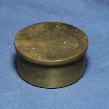 "Solid Brass End Flat Cap Vintage 2"" ID Home Bar Pub Foot Rail Feet Rest"