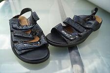 SEMLER Damen Comfort Schuhe Sandalen Klett m. Einlagen Gr.8,5 / 42,5 schwarz Neu