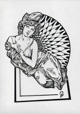 CAPRICHOS DEL FUEGO Original Art Drawing Cuba Cuban FERNANDO GODERICH FABARS 04