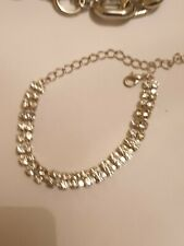 Fashion Jewellery Bracelet  child size silver Tone with rinestones 8-12 years