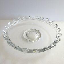 Heisey Glass Loop Edge LARIAT Gardenia Bowl Large Dish 12.5 inch  Platter Dish