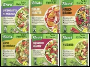 Knorr Herb Salad Dressing Mix *TASTING PACK B* 12 assorted sachets FREE UK Post!