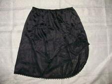 Adonna Womens Size Medium Black Lace Trim Half Slip