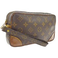 LOUIS VUITTON MARLY DRAGONNE PM CLUCTH HAND BAG PURSE MONOGRAM nq M51827 A52313
