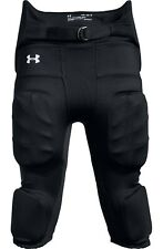 Under Armour Girdle Integrated 7-Pads Football Pants Size Youth Large Black NWOT