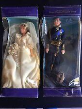 2 Royal Highness Wedding Prince Charles Lady Diana Princess of Wales Dolls 1501