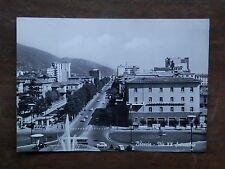 Vecchia foto cartolina d epoca di Brescia Via XX Settembre strada palazzi da per