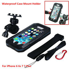 Motorcycle Bike Bicycle Handlebar Mount Holder Waterproof Case For Cell Phone