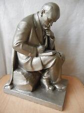 Vintage Statue figurine bust sculpture Lenin Soviet USSR