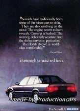 1988 Honda Accord Original Advertisement Print Art Car Ad J760