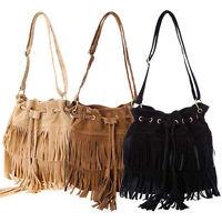 New Women Ladies Fringe Tassel Shoulder Bag Crossbody Bag Messenger Handbag