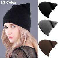 Unisex Men Women Beanie Knit Ski Cap Unisex Hip-Hop Blank Winter Warm Wool Hats