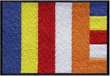 2 pcs BUDDHIST Flag Embroidered Iron on Patches - BUDDHISM