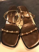 Russell & Bromley Bronze Gold Jewelled Evening Sandals