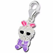 Silvadore Bunny Rabbit CZ Cristalli 925 argento Sterling Charm a clip box 128